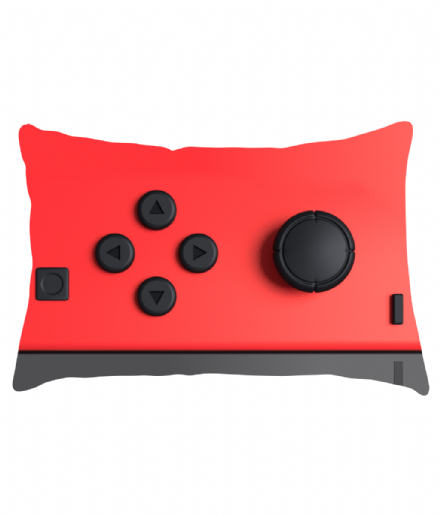 Joy Con Red Left Controller Nintendo Switch inspired Lumbar Cushion
